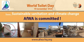 AfWA is committed to universal access to sustainable sanitation and climate protection